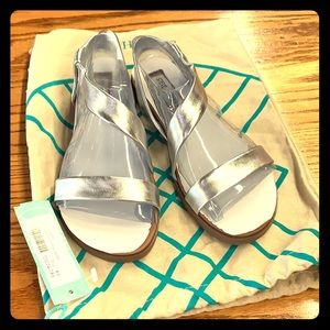 Steve Madden New Silver Strappy Sandals